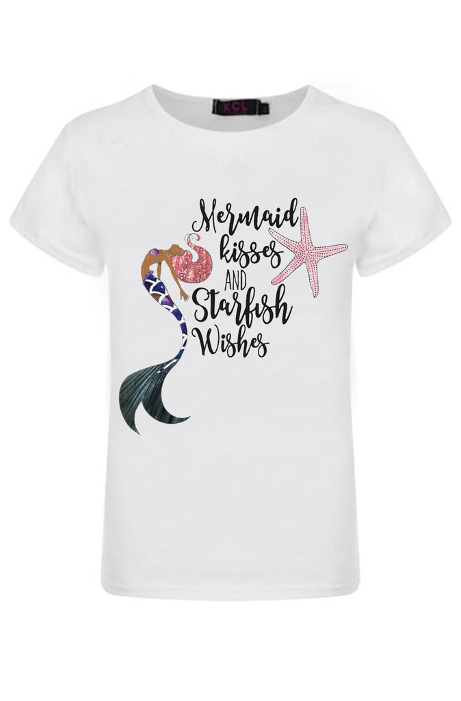 Mermaid Wishes Graphic T-shirt - Sassy Little Sunflower