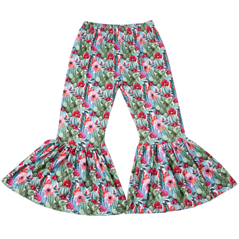 Cactus Bloom Bell Bottoms - Sassy Little Sunflower