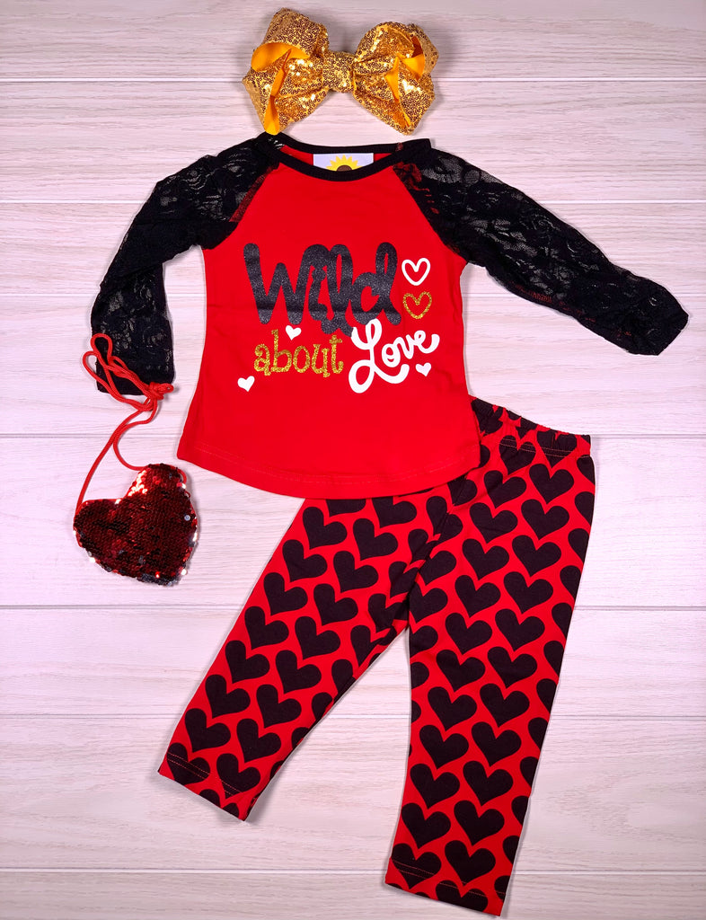 Wild About Love Lace Sleeve Boutique Pant Set