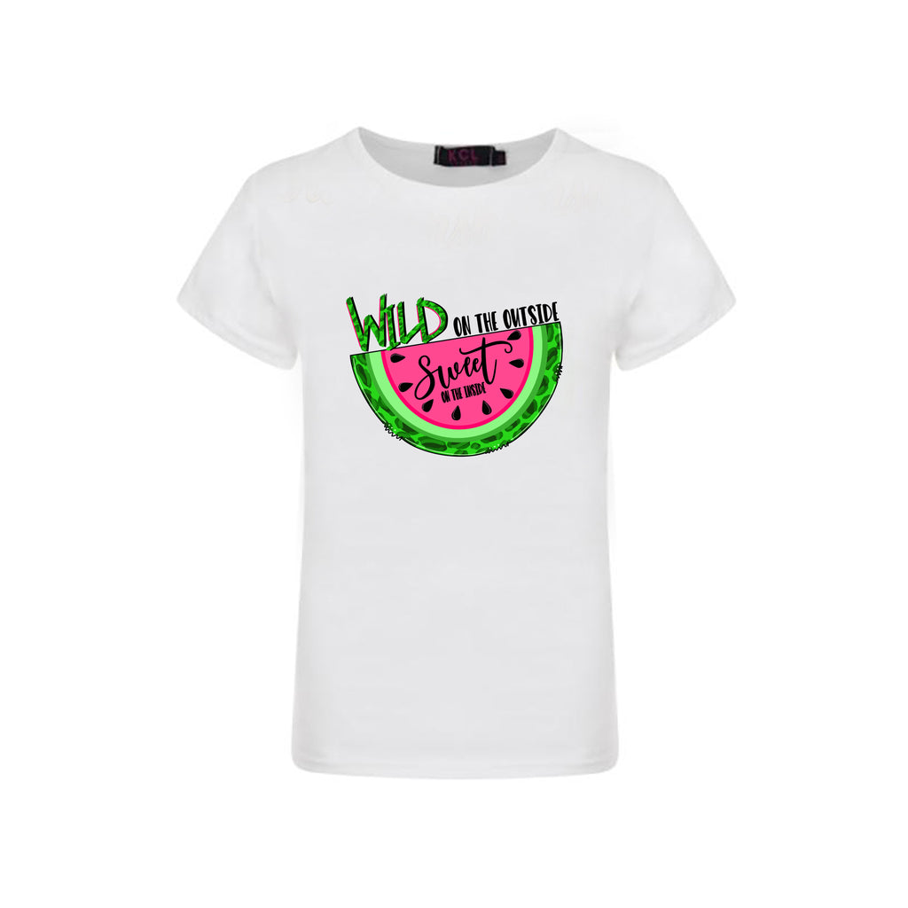 Wild on the outside graphic t-shirt - Sassy Little Sunflower