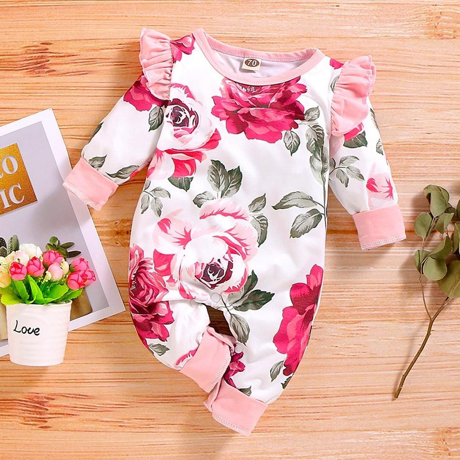 White Romper with Pink Roses