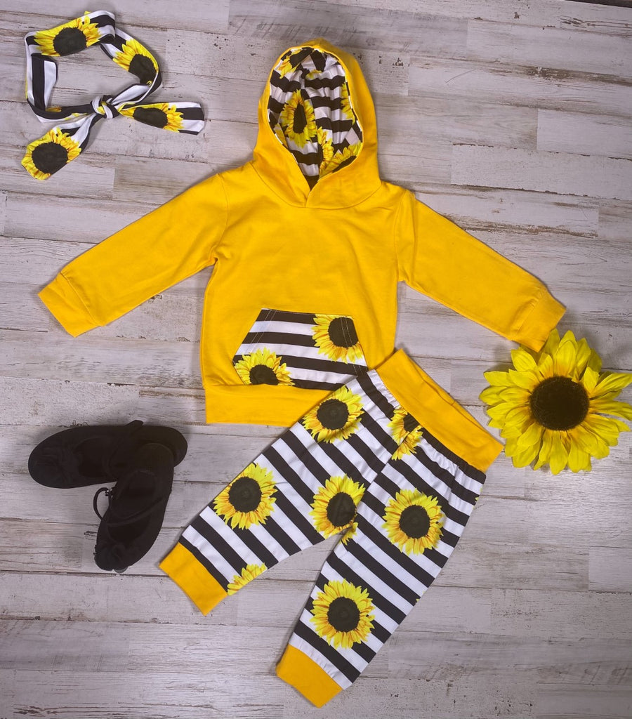 Yellow Sunflower Jogging suit