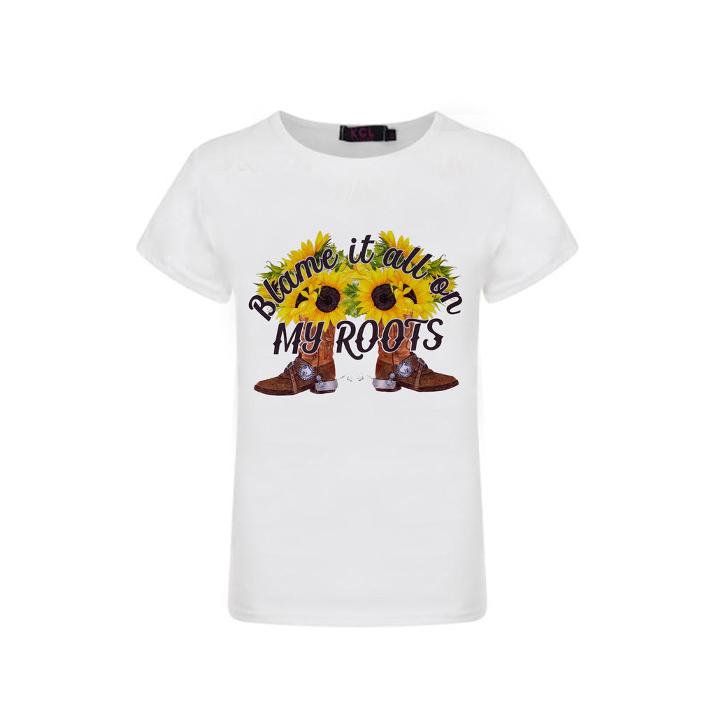 Blame My Roots Graphic T-Shirt - Sassy Little Sunflower