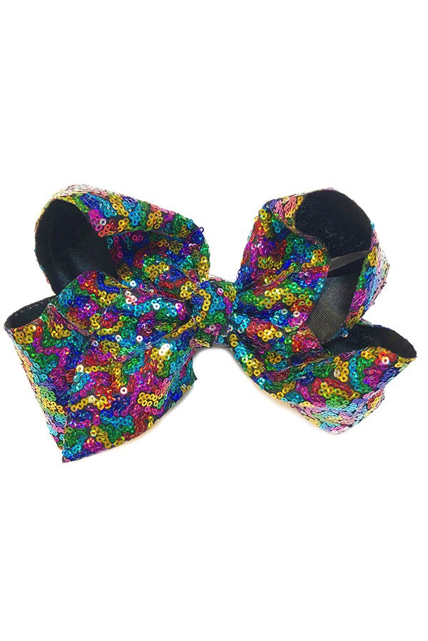 Dolly 8 in Sequin Bow - Sassy Little Sunflower