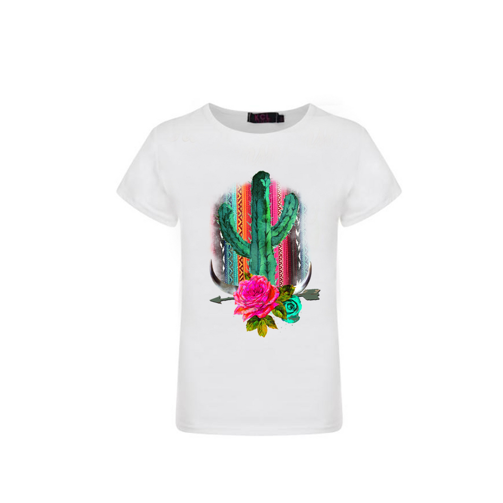 Cactus Rose Graphic T-shirt - Sassy Little Sunflower