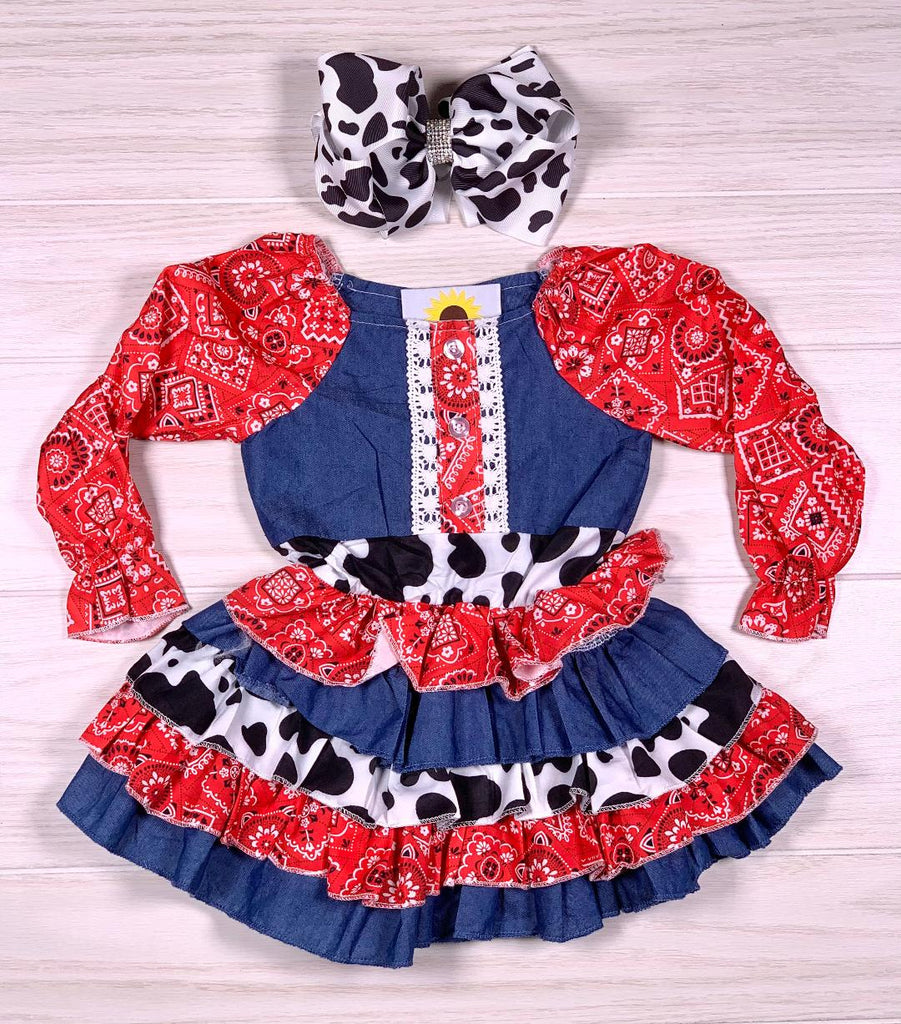 Cowgirl Denim Bandana Dress