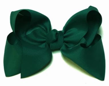 "Emerald Green 8"" Double Stack Bow"