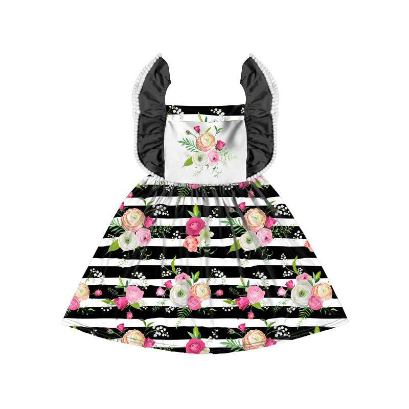 Fancy Stripes  Flutter Dress - Sassy Little Sunflower