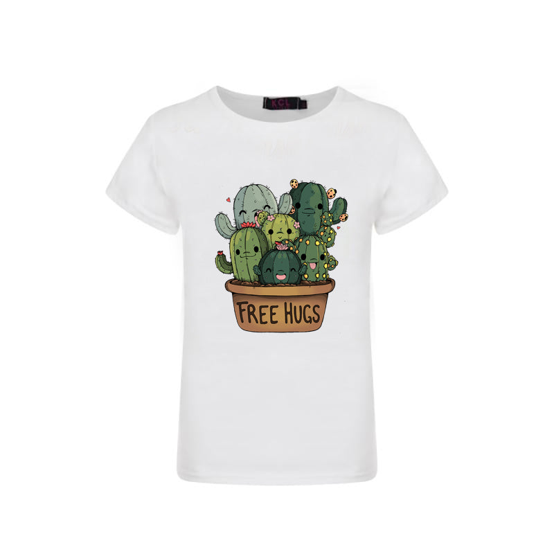 Free Hugs Cactus Graphic T-shirt - Sassy Little Sunflower