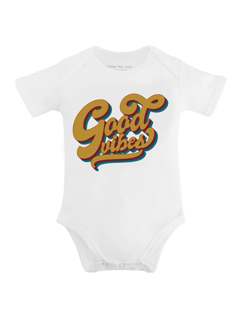 Good Vibes Graphic T-Shirt or Onesie - Sassy Little Sunflower