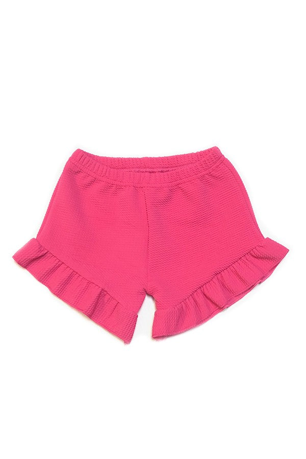 Fushia Ruffle Shorts - Sassy Little Sunflower