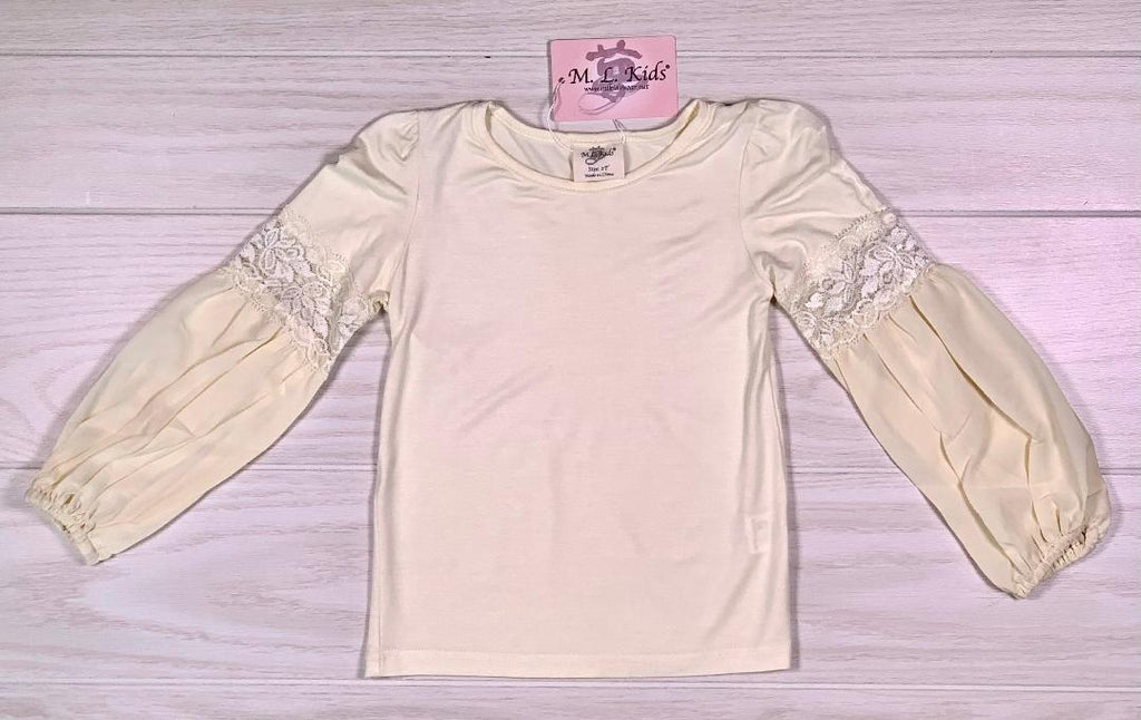 Ivory Lace Long Sleeve Shirt