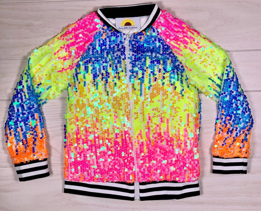 Neon Sequin Jacket