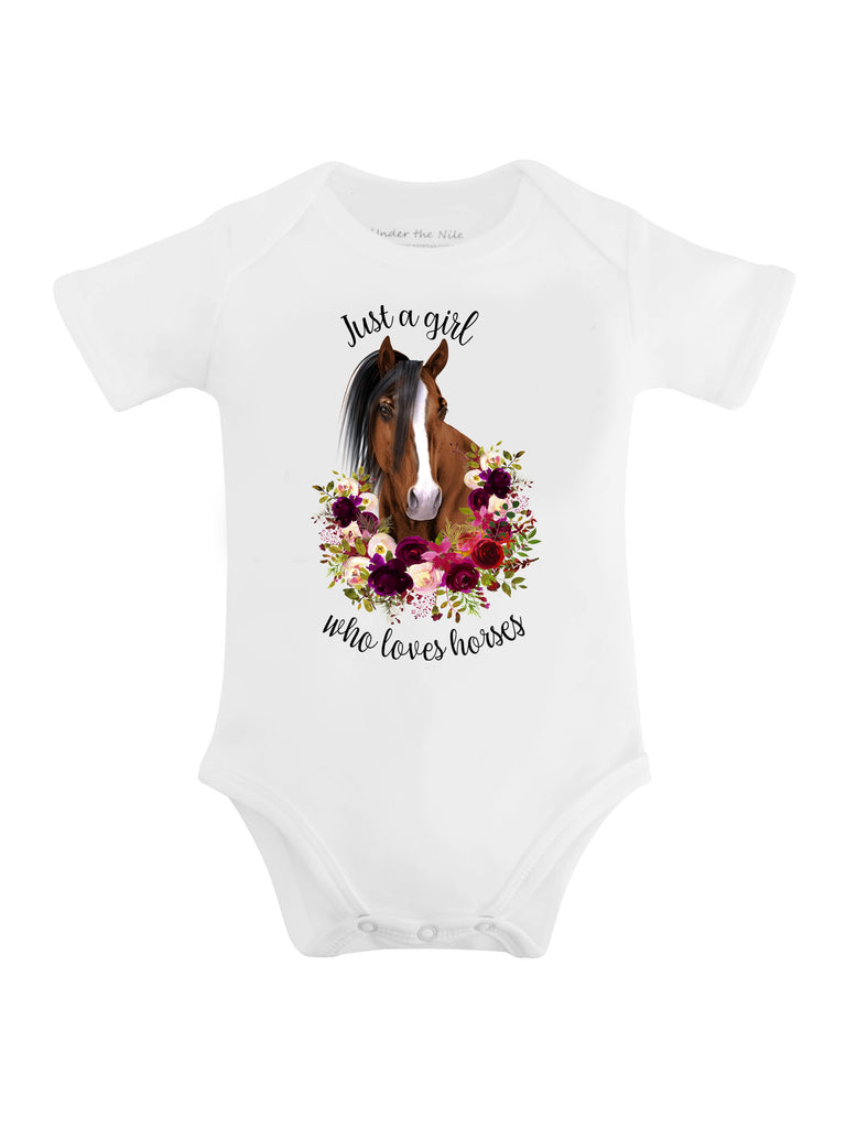 Just a Girl Who Loves Horses Graphic T-shirt - Sassy Little Sunflower