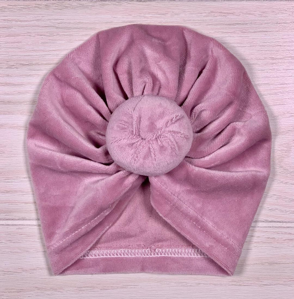 Lavender Rose Velour Turban