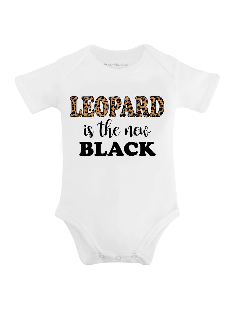 Leopard is the New Black Graphic T-shirt or Onesie - Sassy Little Sunflower