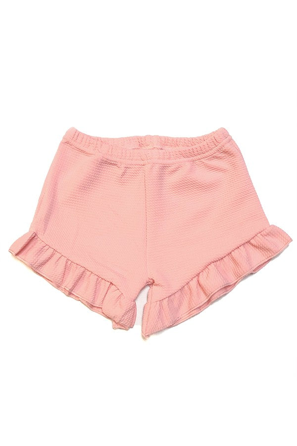 pink ruffle short - Sassy Little Sunflower