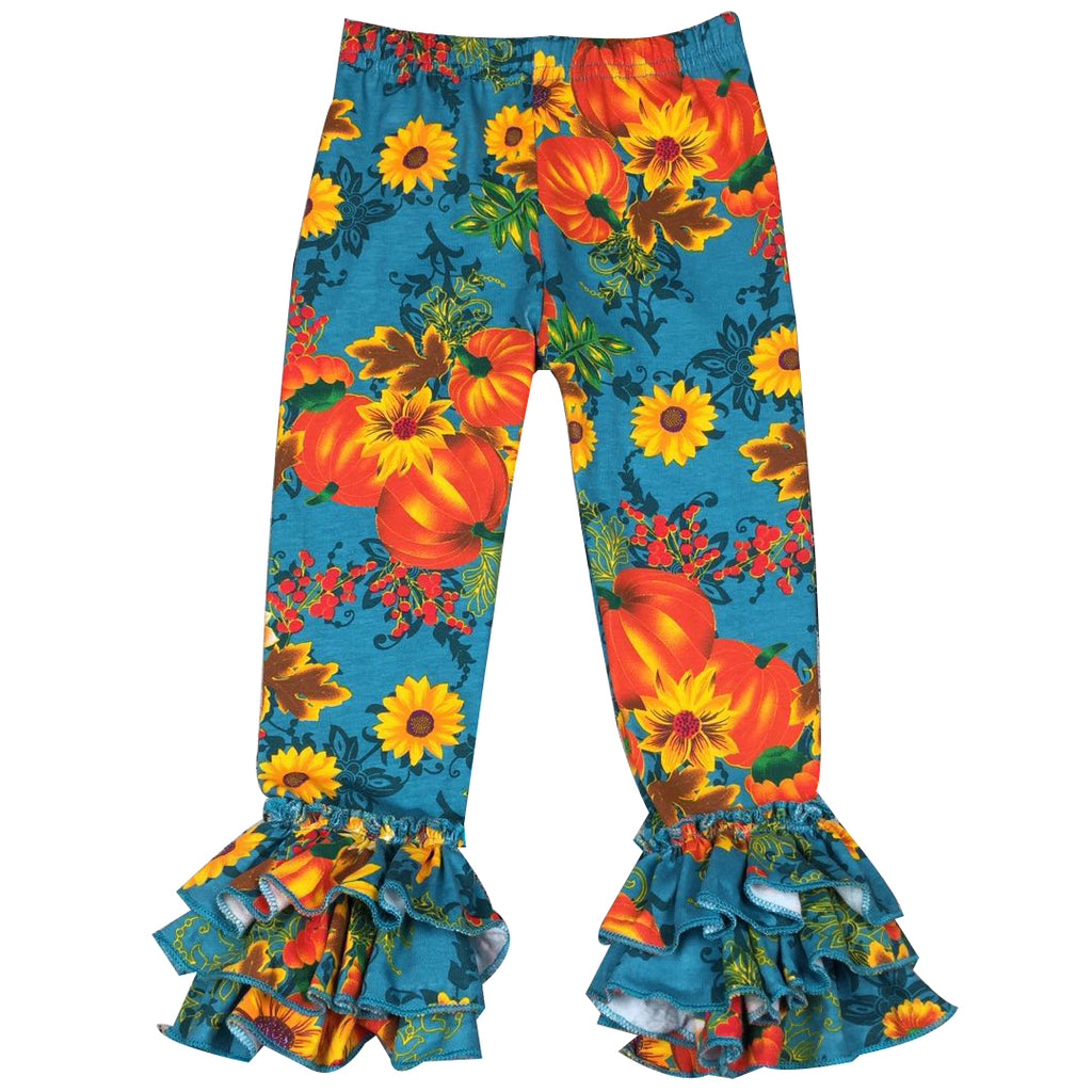 Pumpkin Patch Ruffle Pants - Sassy Little Sunflower