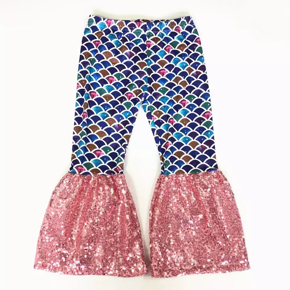 Mermaid Bell Bottoms - Sassy Little Sunflower