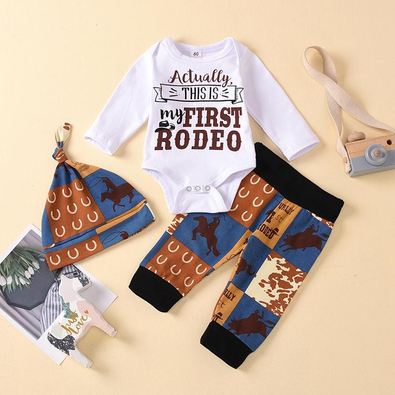 Boy My First Rodeo Pant Set