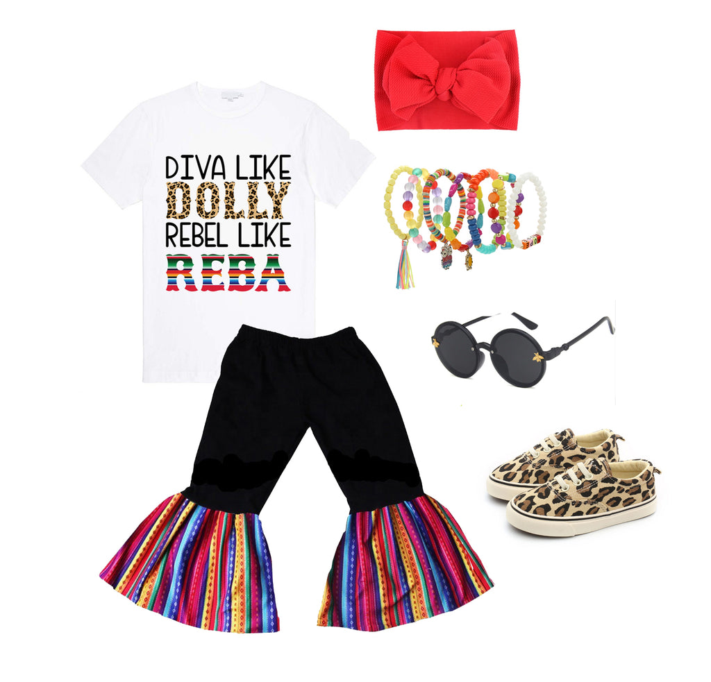 Diva Like Dolly Rebel Like Reba Graphic Tee - Sassy Little Sunflower