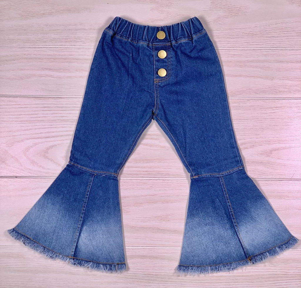 Denim Retro Bell Bottoms - Sassy Little Sunflower