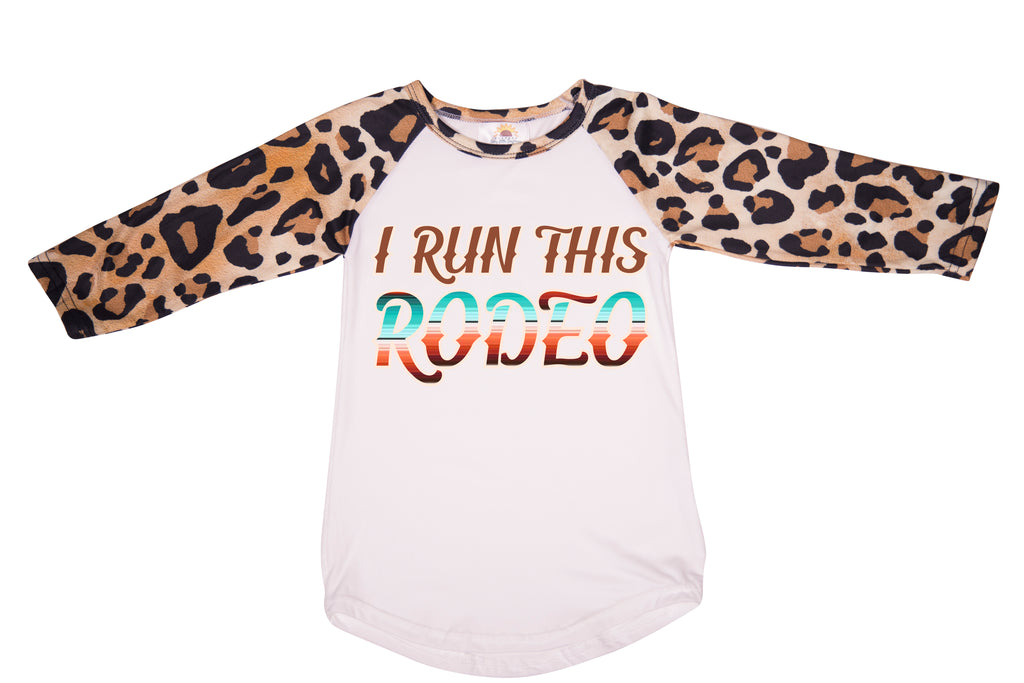I Run This Rodeo Graphic T-shirt - Sassy Little Sunflower