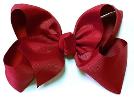 "Scarlet red 8"" double stack bow"