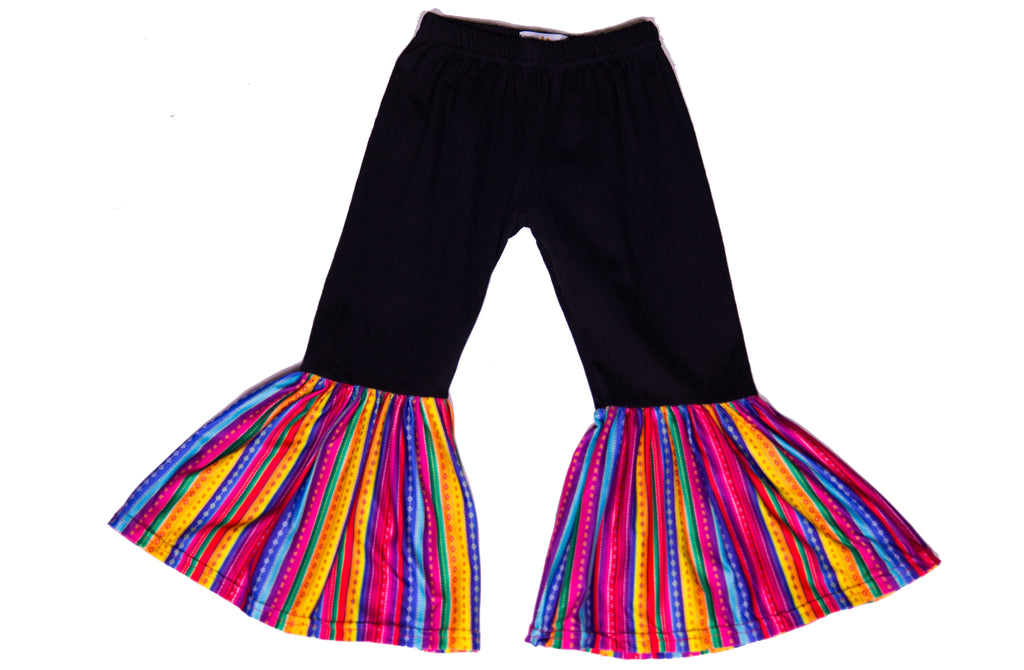 Black and Serape Bell Bottoms - Sassy Little Sunflower