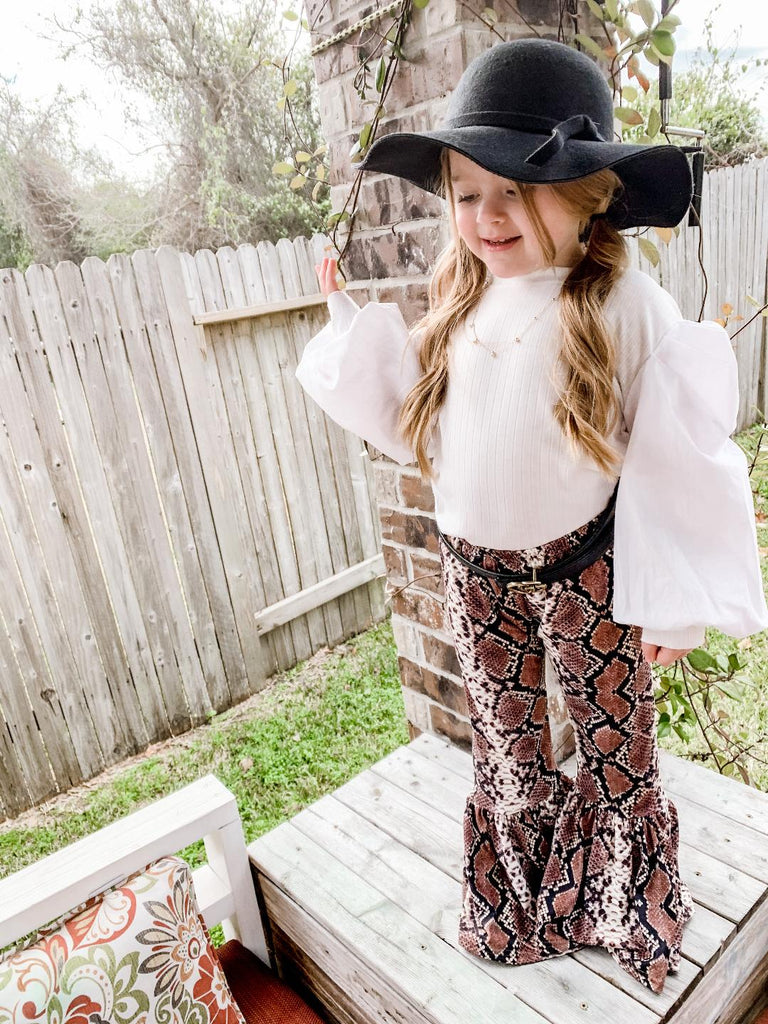 Snake Skin Bell Bottoms - Sassy Little Sunflower