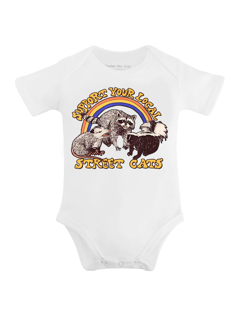 Support Your Local Street Cats Graphic T-shirt or Onesie - Sassy Little Sunflower