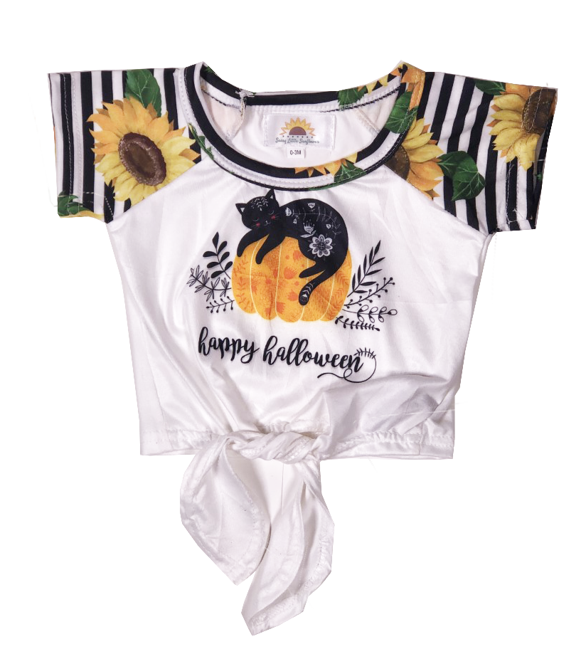 Sassy Sunflower Happy Halloween Cat Shirt - Sassy Little Sunflower