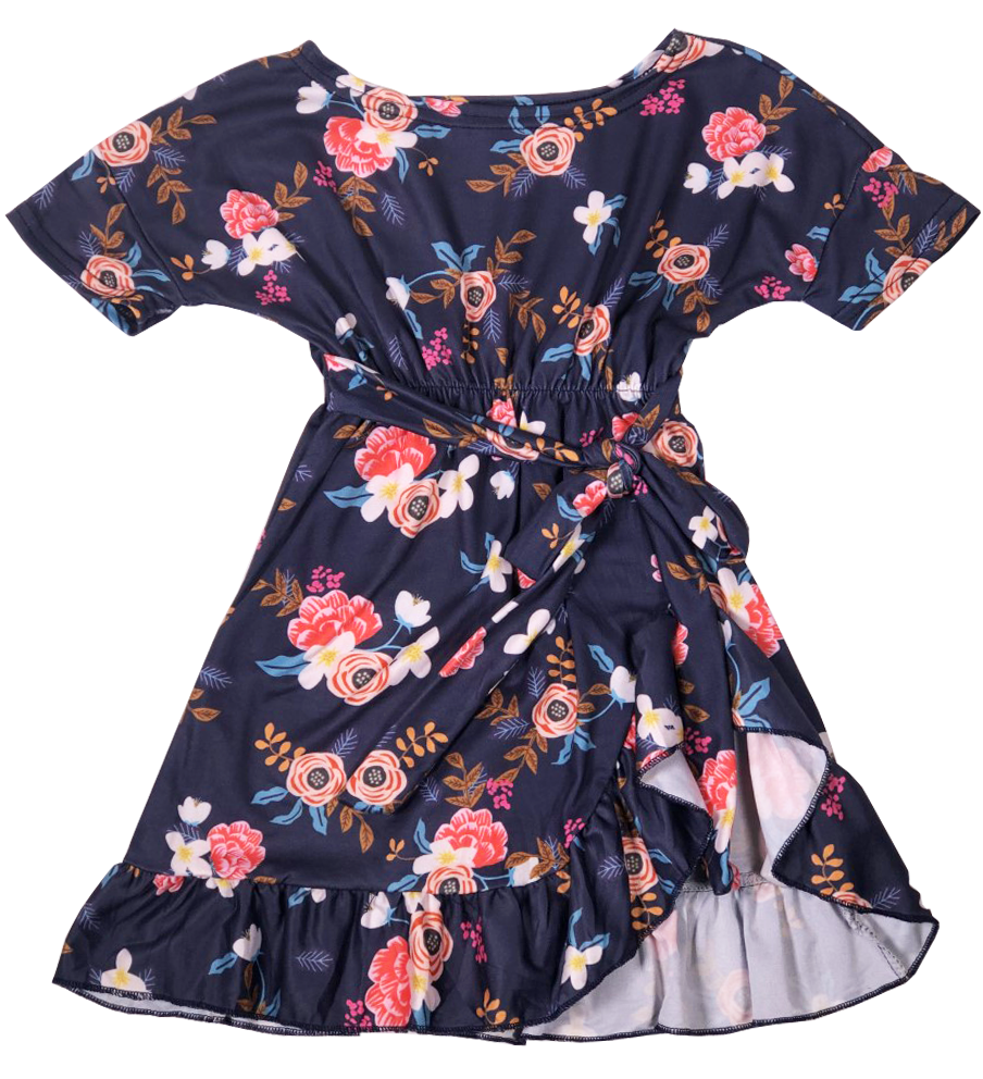 Navy Floral Boho Beauty Dress - Sassy Little Sunflower