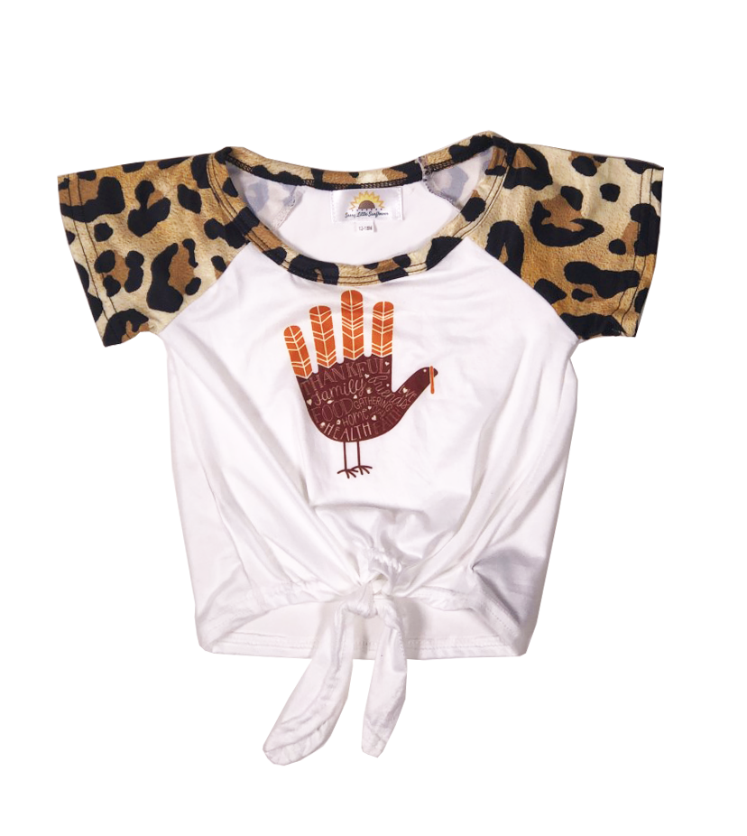 Sassy Leopard Turkey Shirt - Sassy Little Sunflower