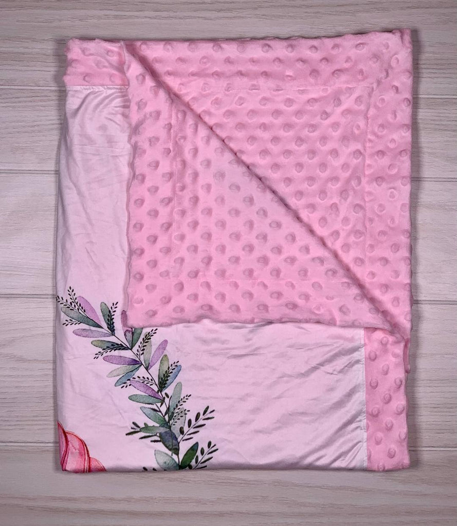 Unicorn Rose Minky Blanket - Sassy Little Sunflower