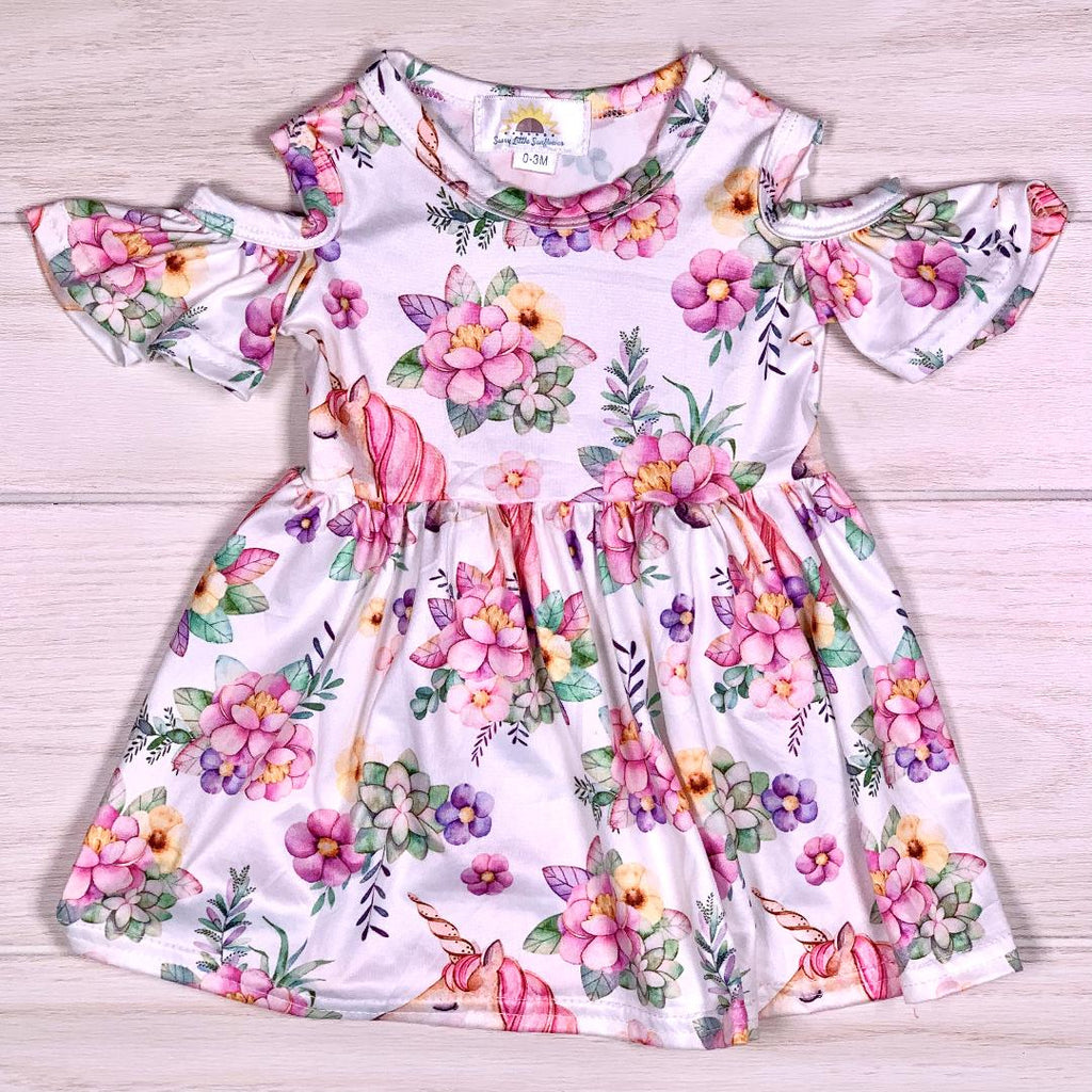 Magical Unicorn Floral Dress