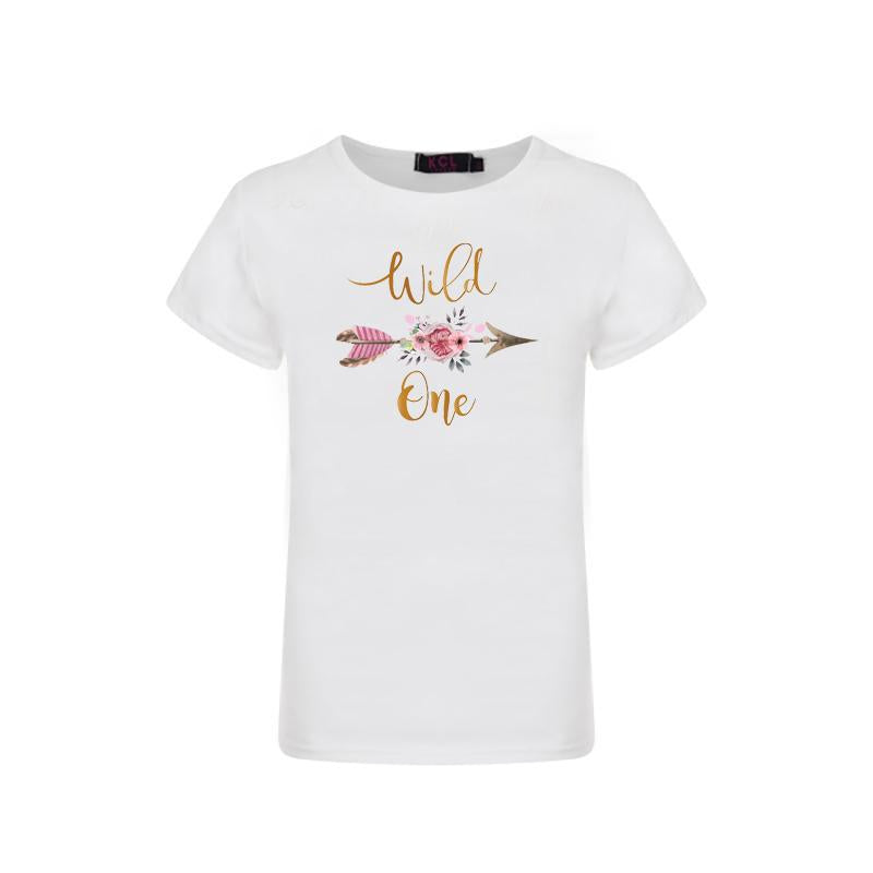 Wild One Graphic t-shirt - Sassy Little Sunflower