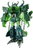 Transformers Encore Universal Dominator Unicron Green Micron Combine Color Robot standing