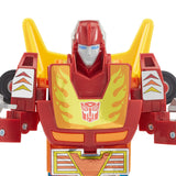 Transformers Vintage G1 reissue Hot Rod Rodimus backwards package robot closeup