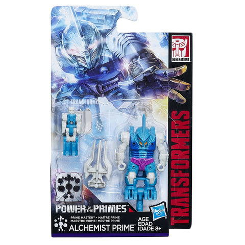 Transformers Power of the Primes Alchemist Prime Submarauder Prime Master Toy Package