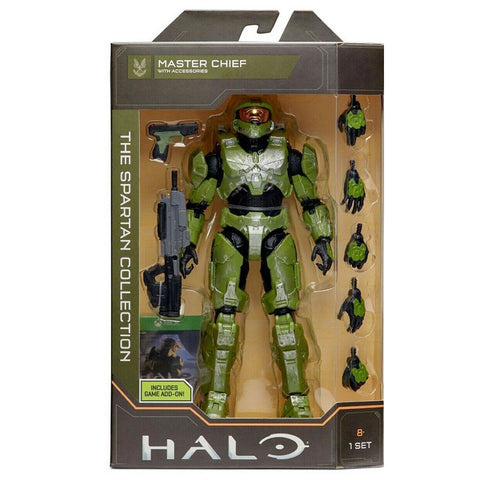 Halo The Spartan Collection Master Chief with accessories 6.5 inch jazwares box package front xbox