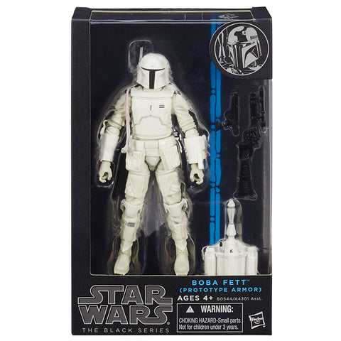 Hasbro Star Wars The Black Series Boba Fett White Prototype Armor walgreens exclusive box package front