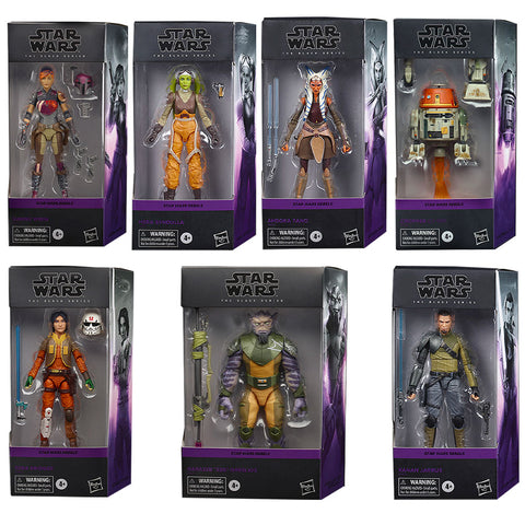 Hasbro Star Wars The Black Series Rebels Complete Set Box Package box package front