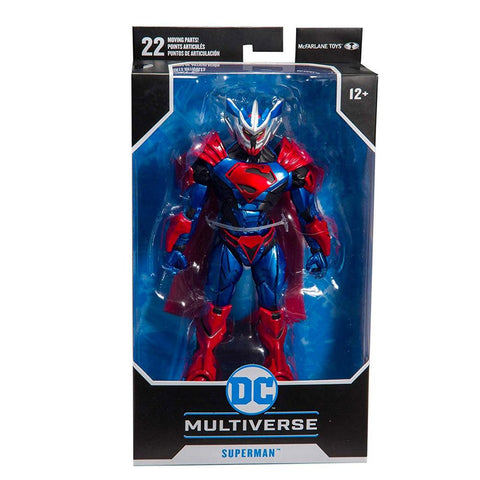 McFarlane Toys DC Multiverse Unchained Armor Superman Box Package Front
