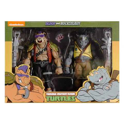 NECA Teenage Mutant Ninja Turtles TMNT Cartoon Bebop Rocksteady 2-pack Target Exclusive Box package Front