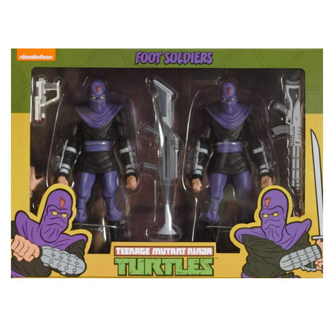 NECA TMNT Teenage Mutant Ninja Turtles Foot Soldiers Army Builder 2-pack Box Package Target Exclusive