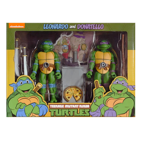 NECA Target Teenage Mutant Ninja Turtles TMNT 90s Cartoon Leonardo & Donatello 2-pack Box Package