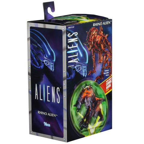 NECA Aliens Kenner Tribute Ultimate Rhino Alien Box Package Front