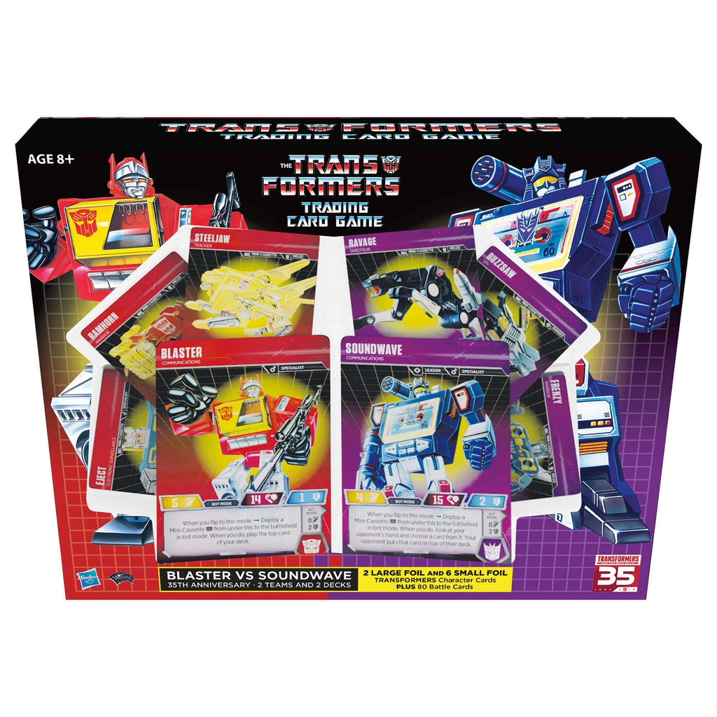 Transformers Card Game TCG SDCC 2019 35th Anniversary Blaster vs Soundwave  - Giftset
