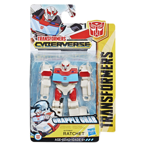 Transformers Cyberverse Scout Class Autobot Ratchet toy box package